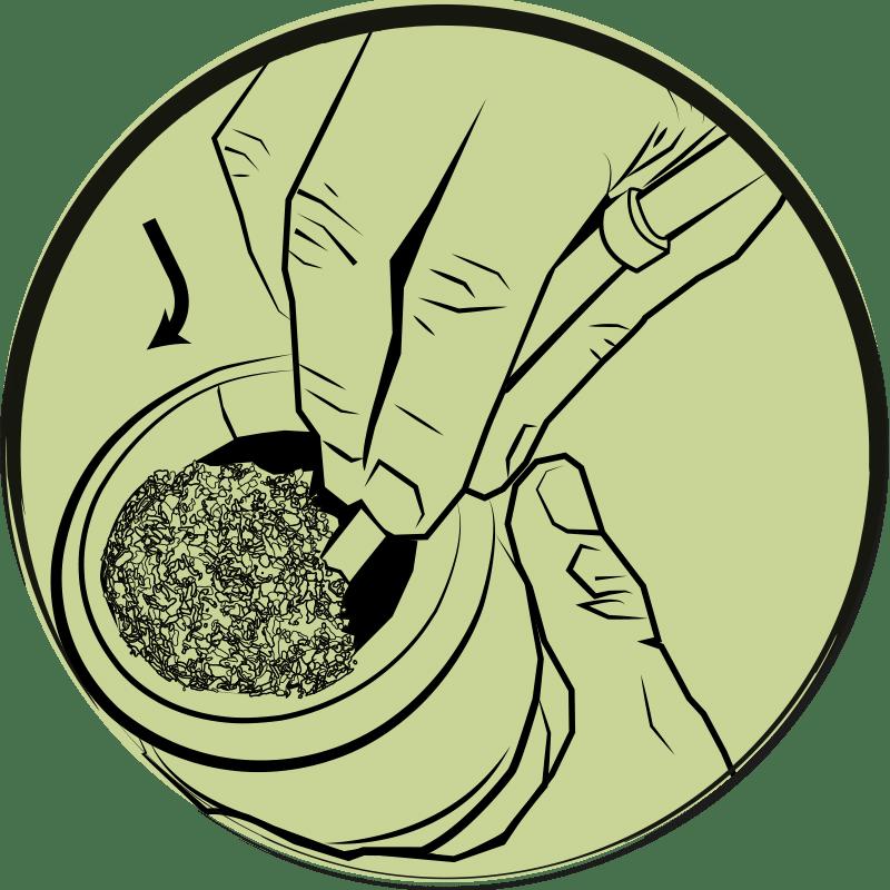 Zeichnung von Bombilla und Kalebasse